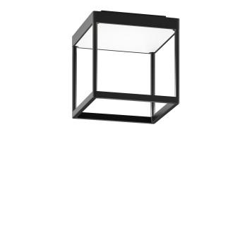 Serien Lighting Reflex² Ceiling S 200, Gehäuse schwarz, Glas strukturiert weiß