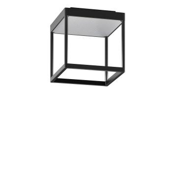 Serien Lighting Reflex² Ceiling S 200, Gehäuse schwarz, Glas strukturiert silber