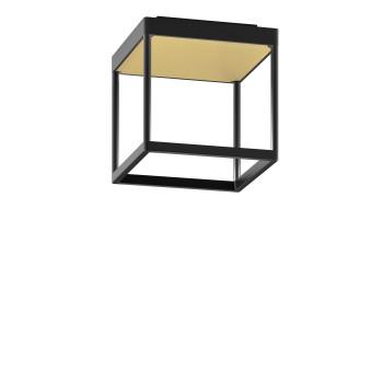 Serien Lighting Reflex² Ceiling S 200, Gehäuse schwarz, Glas strukturiert hellgold