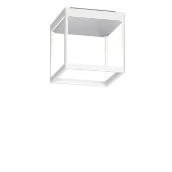 Serien Lighting Reflex² Ceiling S 200, Gehäuse weiß, Glas strukturiert silber