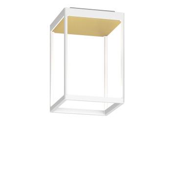 Serien Lighting Reflex² Ceiling S 300, Gehäuse weiß, Glas strukturiert hellgold