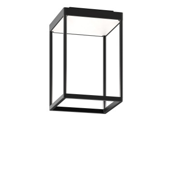 Serien Lighting Reflex² Ceiling S 300, Gehäuse schwarz, Glas weiß matt