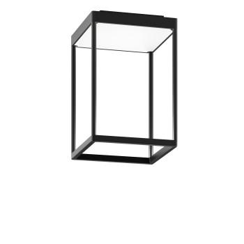Serien Lighting Reflex² Ceiling S 300, Gehäuse schwarz, Glas strukturiert weiß