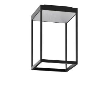 Serien Lighting Reflex² Ceiling S 300, Gehäuse schwarz, Glas strukturiert silber