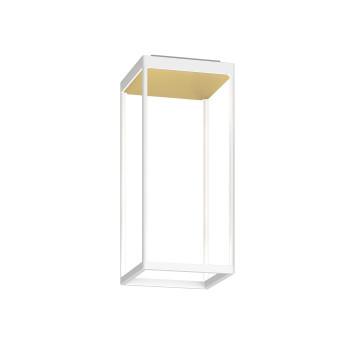 Serien Lighting Reflex² Ceiling S 450, Gehäuse weiß, Glas strukturiert hellgold