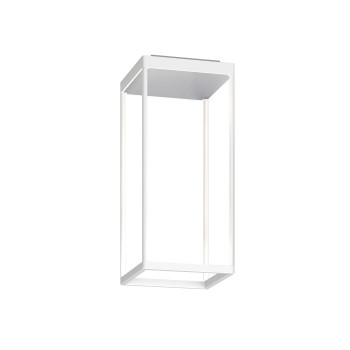 Serien Lighting Reflex² Ceiling S 450, Gehäuse weiß, Glas strukturiert silber