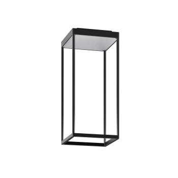 Serien Lighting Reflex² Ceiling S 450, Gehäuse schwarz, Glas strukturiert silber