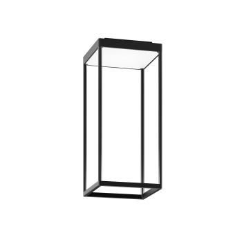 Serien Lighting Reflex² Ceiling S 450, Gehäuse schwarz, Glas strukturiert weiß