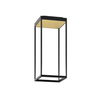 Serien Lighting Reflex² Ceiling S 450, Gehäuse schwarz, Glas strukturiert hellgold
