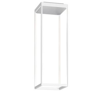 Serien Lighting Reflex² Ceiling S 600, Gehäuse weiß, Glas strukturiert silber