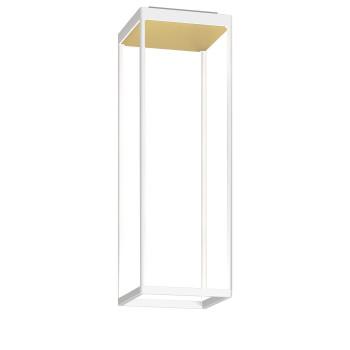 Serien Lighting Reflex² Ceiling S 600, Gehäuse weiß, Glas strukturiert hellgold