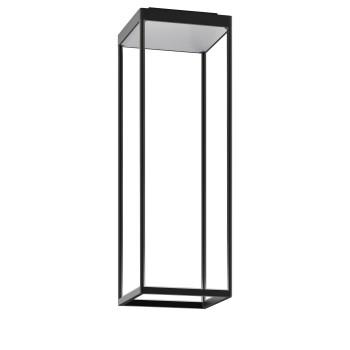Serien Lighting Reflex² Ceiling S 600, Gehäuse schwarz, Glas strukturiert silber