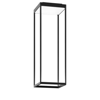 Serien Lighting Reflex² Ceiling S 600, Gehäuse schwarz, Glas strukturiert weiß