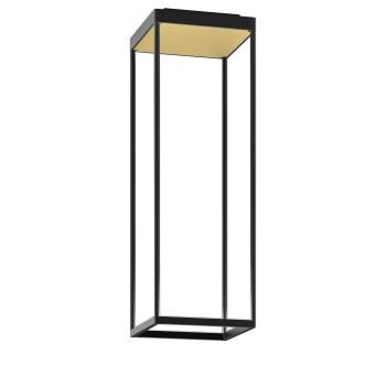 Serien Lighting Reflex² Ceiling S 600, Gehäuse schwarz, Glas strukturiert hellgold