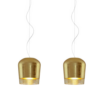 Casablanca Syss Gold 2 Pendelleuchte, ⌀ 23 cm