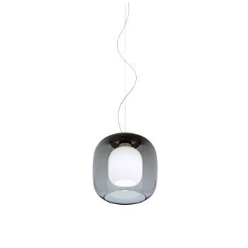 Casablanca Murea Pendant Light, graphite glass / diffuser glass matt opal white