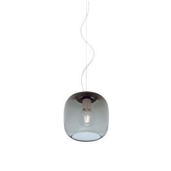 Casablanca Murea Pendant Light, graphite glass