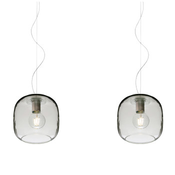Casablanca Murea 2 Pendant Light, crystal glass