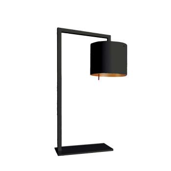 Anta Afra TL LED, schwarz, Schirm innen gold