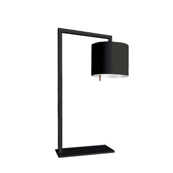 Anta Afra TL LED, schwarz, Schirm innen silber
