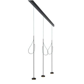 Anta Ny auf Schiene 156 cm, 3 Pendel mit Höhenverstellung, schwarz