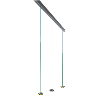 Anta Ny auf Schiene 156 cm, 3 Pendel ohne Höhenverstellung, Aluminium