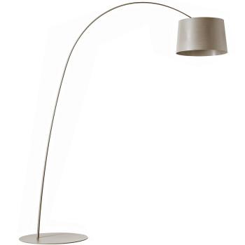 Foscarini Twiggy Terra R1 LED, grey beige, without additional arm piece