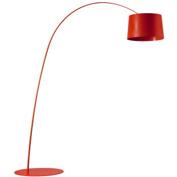 Foscarini Twiggy Terra R1 LED, carmine red, with additional arm piece
