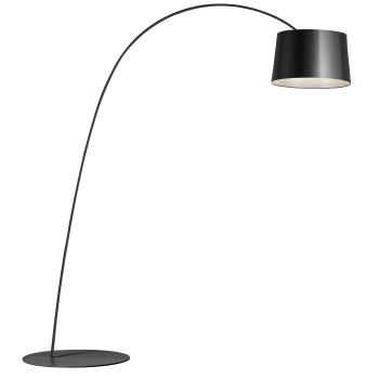 Foscarini Twiggy Terra R1 LED, graphite grey, with additional arm piece