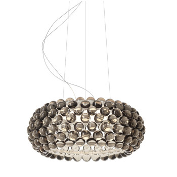 Foscarini Caboche Plus Media Sospensione, grau, dimmbar
