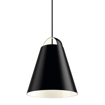 Louis Poulsen Above LED, schwarz matt, ⌀ 40 cm, dimmbar (TRIAC)