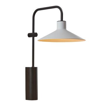 Bover Platet A/02 LED, Schirm hellgrau, nicht dimmbar