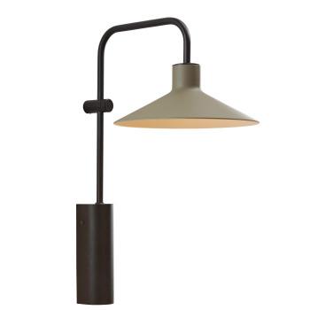 Bover Platet A/02 LED, Schirm olivgrau, nicht dimmbar