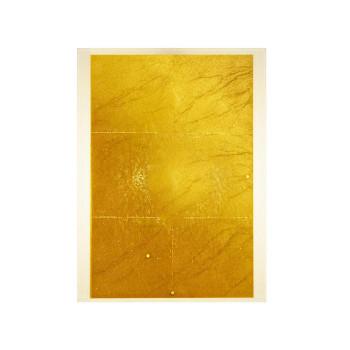 Ingo Maurer 24 Karat Blau Flat Ergänzungsmodul, Gold