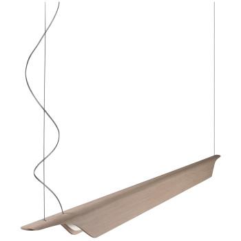 Foscarini Troag Media LED, natur, mit Kabelsonderlänge max. 10 m