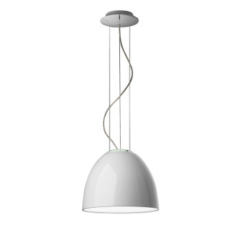 Artemide Nur Mini Gloss Sospensione, glossy white