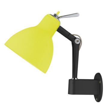 Rotaliana Luxy W0, Struktur schwarz matt, Schirm gelb glänzend