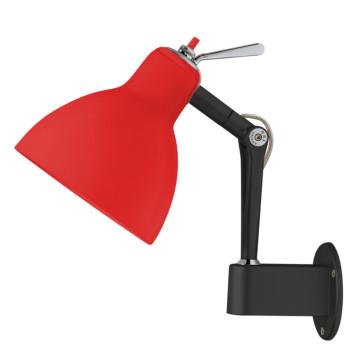 Rotaliana Luxy W0, Struktur schwarz matt, Schirm rot glänzend