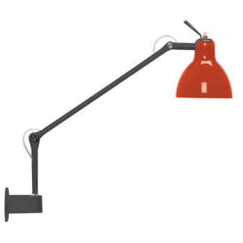 Rotaliana Luxy W1, Struktur schwarz matt, Schirm rot glänzend