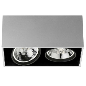 Flos Compass Box Large 2L QR111, Aluminium eloxiert