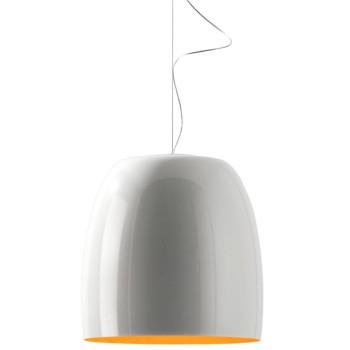 Prandina Notte Metal S7, außen glänzend weiß, innen orange (RAL 2000)