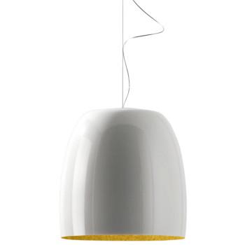 Prandina Notte Metal S7, außen glänzend weiß, innen gold
