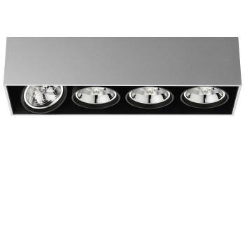 Flos Compass Box Large 4L QR111, Aluminium eloxiert