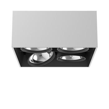 Flos Compass Box Large 4L Square QR111, Aluminium eloxiert