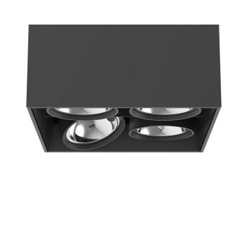Flos Compass Box Large 4L Square QR111, schwarz