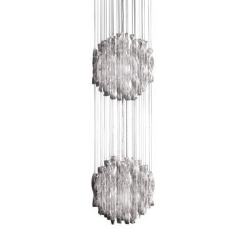 Axo Light Aura SP 60/2, Stahl glänzend - kristall