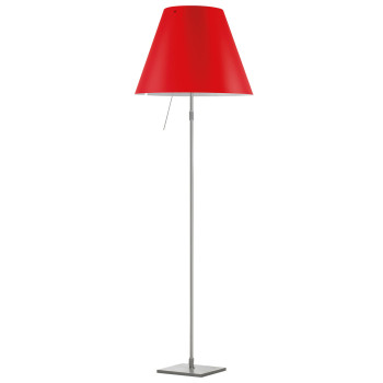 Luceplan Costanza Terra Alu with Dimmer, primary red
