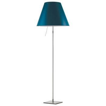 Luceplan Costanza Terra Alu with Dimmer, petroleum blue