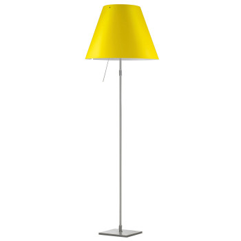 Luceplan Costanza Terra Alu with Dimmer, smart yellow
