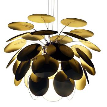Marset Discocó 88, außen schwarz / innen goldfarben
